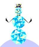 Muñeco de nieve en el estilo del polígono Carácter del invierno en el cla ilustración del vector