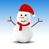 Muñeco de nieve en invierno Fotografía de archivo