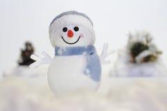 Muñeco de nieve en la nieve fotografía de archivo libre de regalías