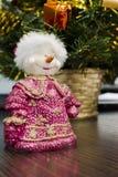 Muñeco de nieve en la tabla Imagen de archivo libre de regalías