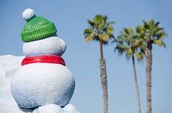 Muñeco de nieve en San Diego Imagen de archivo libre de regalías