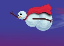 Muñeco de nieve estupendo Foto de archivo libre de regalías