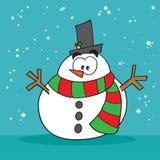 Muñeco de nieve extraño Imagen de archivo libre de regalías