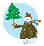 Muñeco de nieve feliz Libre Illustration