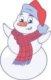 Muñeco de nieve feliz Fotografía de archivo