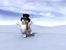 Muñeco de nieve feliz Fotos de archivo