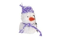 Muñeco de nieve juguete-blanco suave Imágenes de archivo libres de regalías