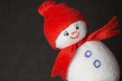 Muñeco de nieve juguete suave Imagenes de archivo