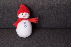 Muñeco de nieve juguete suave Foto de archivo
