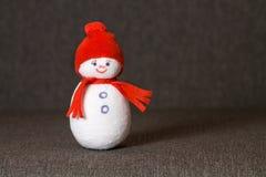 Muñeco de nieve juguete suave divertido imagen de archivo libre de regalías