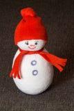 Muñeco de nieve juguete suave divertido fotos de archivo libres de regalías