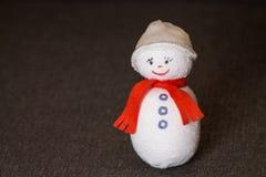 Muñeco de nieve juguete suave divertido imagen de archivo