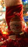 Muñeco de nieve de la bota de la decoración de la Navidad Foto de archivo