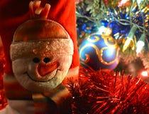 Muñeco de nieve de la decoración de la Navidad Imágenes de archivo libres de regalías