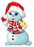 """Muñeco de nieve de la diversión aislado ejemplo común del †"""" Imagenes de archivo"""