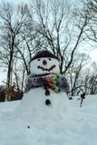 Muñeco de nieve lindo Imagenes de archivo