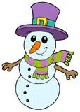 Muñeco de nieve lindo de la historieta stock de ilustración