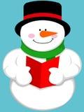 Muñeco de nieve lindo de la historieta Foto de archivo libre de regalías