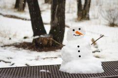 Muñeco de nieve minúsculo Fotos de archivo