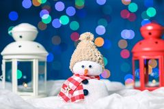 Muñeco de nieve para la Feliz Navidad Fotografía de archivo libre de regalías