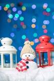 Muñeco de nieve para la Feliz Navidad Imagen de archivo libre de regalías
