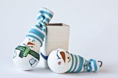 Muñeco de nieve - recuerdo hecho a mano de la Navidad Imagen de archivo libre de regalías