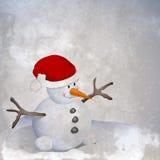 Muñeco de nieve retro Imagen de archivo libre de regalías