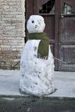 Muñeco de nieve triste Foto de archivo libre de regalías