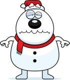 Muñeco de nieve triste Papá Noel de la historieta Foto de archivo libre de regalías