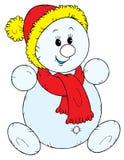 Muñeco de nieve (vector) Foto de archivo