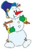 Muñeco de nieve (vector) Fotos de archivo