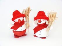 Muñecos de nieve Fotografía de archivo