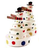 Muñecos de nieve Imágenes de archivo libres de regalías