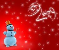 Muñecos de nieve 2009 ilustración del vector