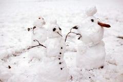 Muñecos de nieve Imagenes de archivo