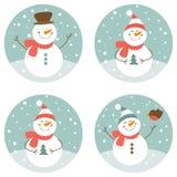 Muñecos de nieve stock de ilustración
