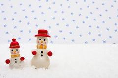 Muñecos de nieve Fotografía de archivo libre de regalías