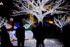 Muñecos de nieve de la Navidad foto de archivo
