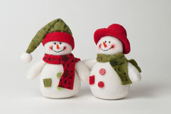 Muñecos de nieve de la Navidad Imagen de archivo libre de regalías