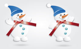 Muñecos de nieve divertidos. Fotos de archivo