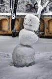 Muñecos de nieve locos Fotografía de archivo libre de regalías