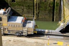 Muły Panamski kanał Zdjęcia Royalty Free