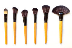 muśnięć odosobnionego makeup ustalony biel Fotografia Stock
