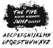 Muśnięć uderzeń ABC Grunge farby struktura royalty ilustracja