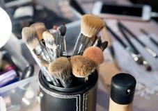 Muśnięcia dla makeup, kosmetyk, profesjonalistów narzędzia piękno Obrazy Royalty Free