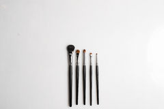 Muśnięcia dla makeup na białym tle fotografującym od above Fotografia Royalty Free