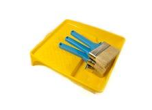 Muśnięcia dla malować w koloru żółtego skąpaniu Obraz Royalty Free