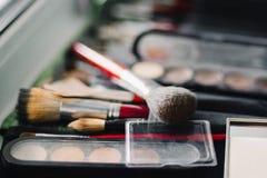 Muśnięcia i eyeshadow makeup dla oczu Zdjęcie Stock