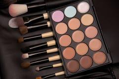 Muśnięcia i oka cienia makeup Zdjęcia Royalty Free