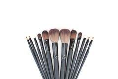 Muśnięcia ustawiający dla fachowego makeup artysty Obrazy Royalty Free